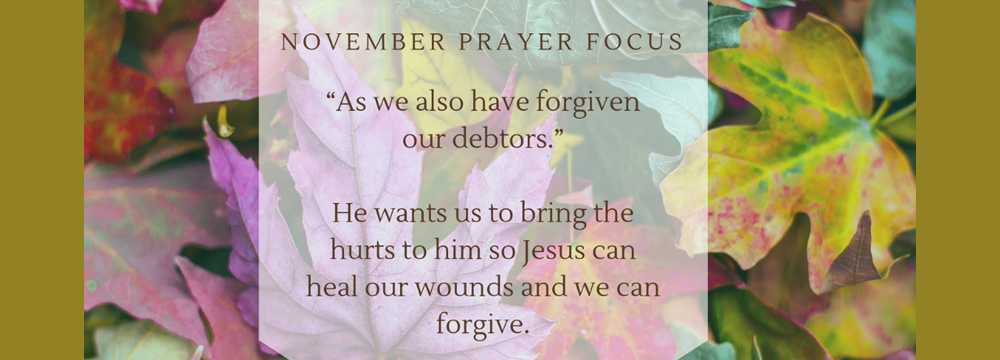 November Prayer Focus