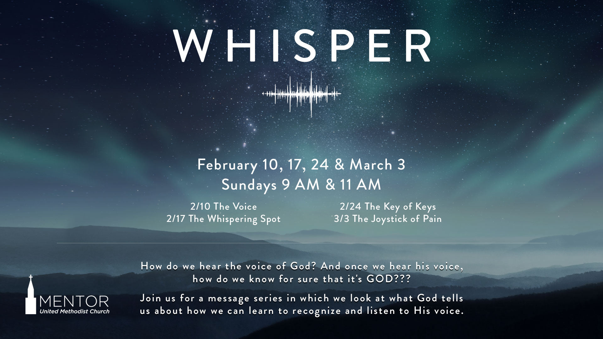 Whisper Sermon Series