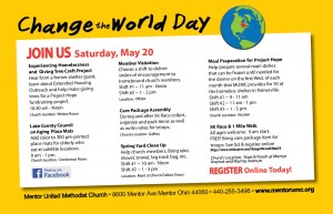 Sign Up Today to participate in Change the World Day