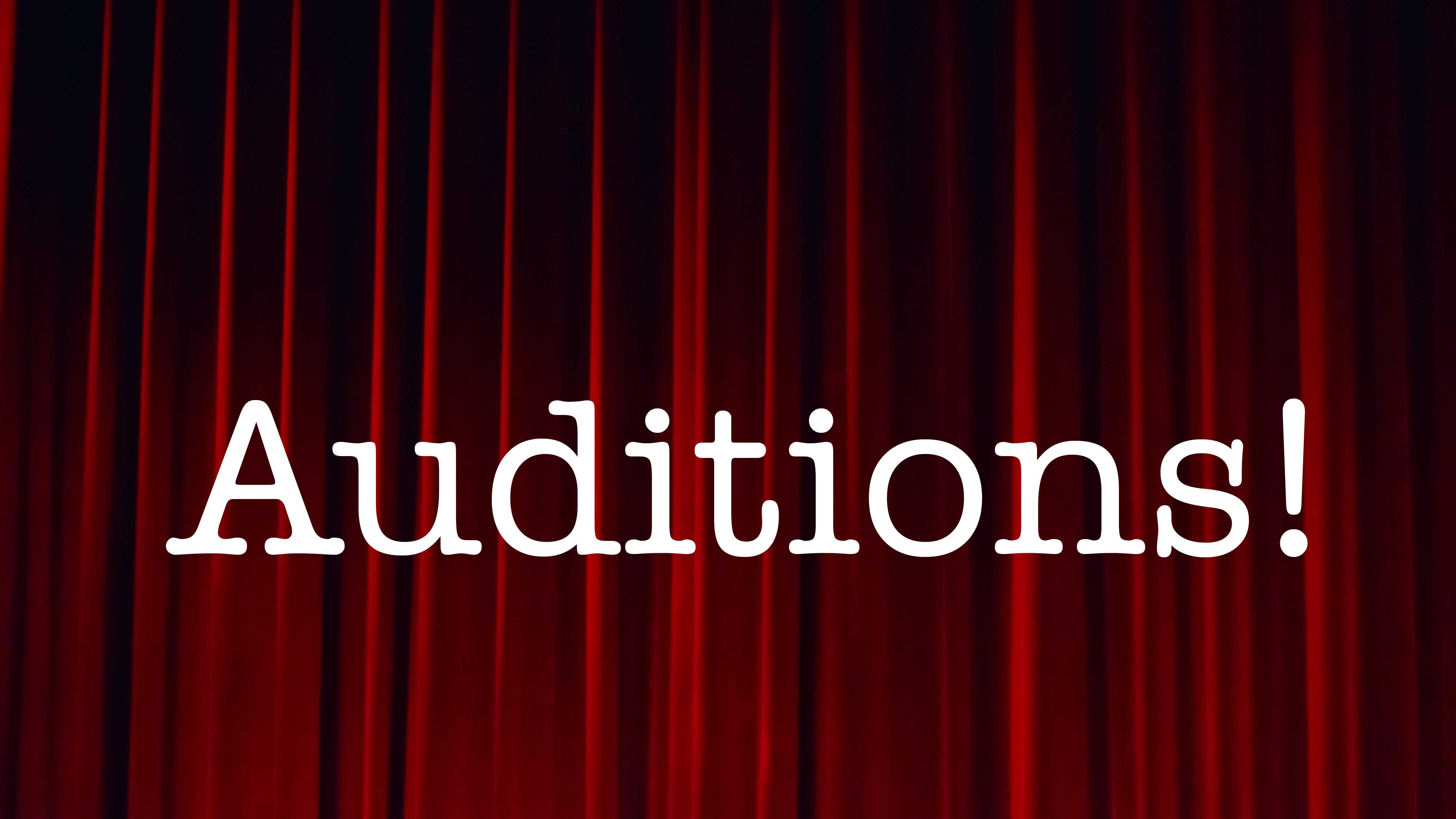 Christmas Play Auditions